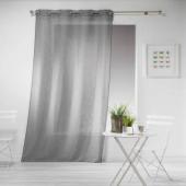 Panneau à oeillets - 140 x 240 cm - Effet lin Tisse haltona - Gris