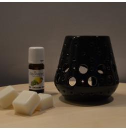 Brûle parfum Loob - D 9 x H 9 cm - Noir