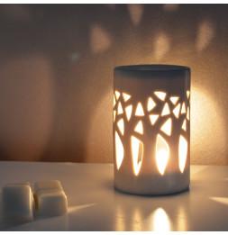 Brûle parfum Forêt - D 7 x H 11 cm - Gris