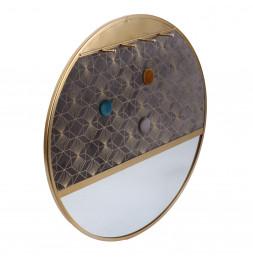 Miroir porte bijoux rond - D 40.5 cm