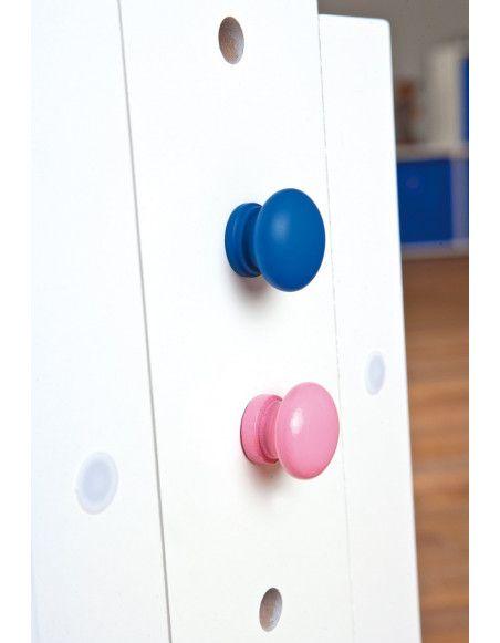 Bureau pour enfant avec plateau inclinable - Baru - Meuble rose ou bleu