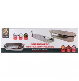 Poissonnière en acier inoxydable - 51 cm