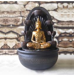 Fontaine Bouddha Chakra - D 26 x H 40 cm - Polyrésine