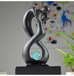 Fontaine Moderne Amor - L 14 x l 14 x H 31 cm - Polyrésine - Noir