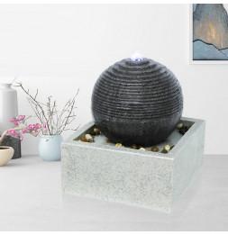 Fontaine Moderne Bonny - L 30 x l 30 x H 24 cm - Polyrésine