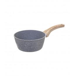 Casserole en aluminium - D. 18 cm - Effet pierre grise