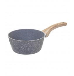 Casserole en aluminium - D. 20 cm - Effet pierre grise