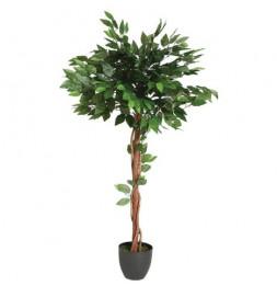 Ficus artificiel en pot - H. 120 cm