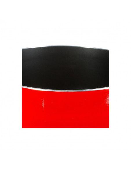 Casserole en aluminium - D. 20 cm - À induction - Rouge