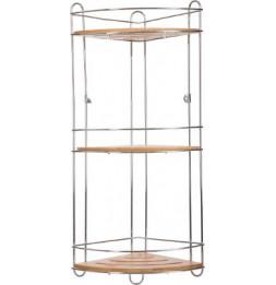 Étagère 3 niveaux en bambou - L 26,5 x P 19 x H 56 cm - Marron