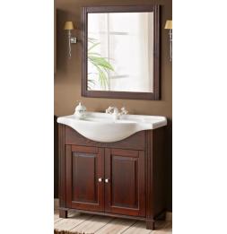 Ensemble meuble vasque + miroir - 65 cm - Retro
