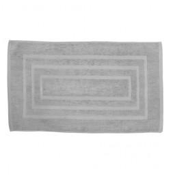 Tapis de bain 100% coton - 50 x 85 cm - Gris clair