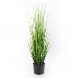 Herbe artificielle en pot - D 15 x H 91 cm - Vert