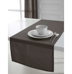 Chemin de table coton 50 x 150 cm - Taupe - Linge de table