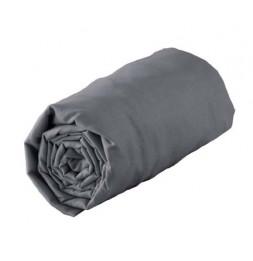 Drap housse 140 x 190 cm - Gris souris - 100% coton 57 fils