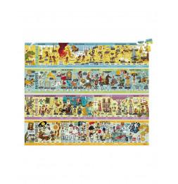 Set de 4 puzzles en bois - 100 pièces - Frise historique