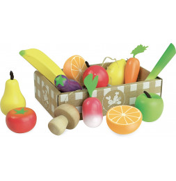 Set de fruits et légumes - Jour de marché - 2 ans +