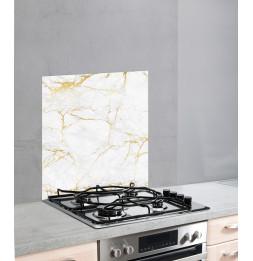 Fond de hotte en verre - 60 x 70 cm - Marbre or