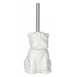 Brosse WC en céramique - Bulldog - Blanc