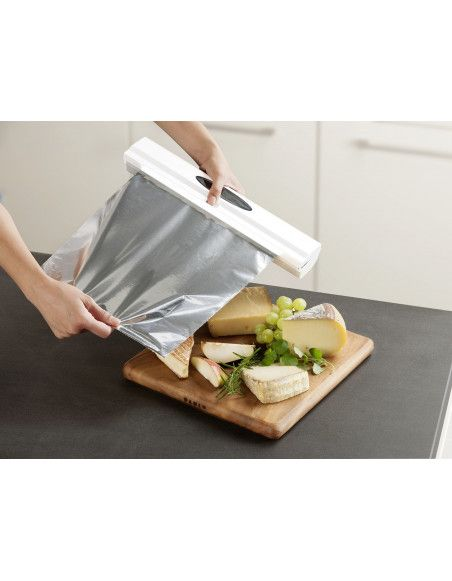 Distributeur de film alimentaire - Perfect Cutter - Blanc