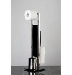 Combiné WC dérouleur papier et brosse WC - Rivalta - Inox