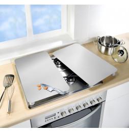 Lot de 2 plaques de protection en verre pour cuisinière - Argent - Universel