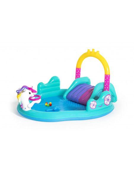 Aire de jeux avec pataugeoire - Licorne Magical Unicorn Carriage - 274 x 198 x 137 cm