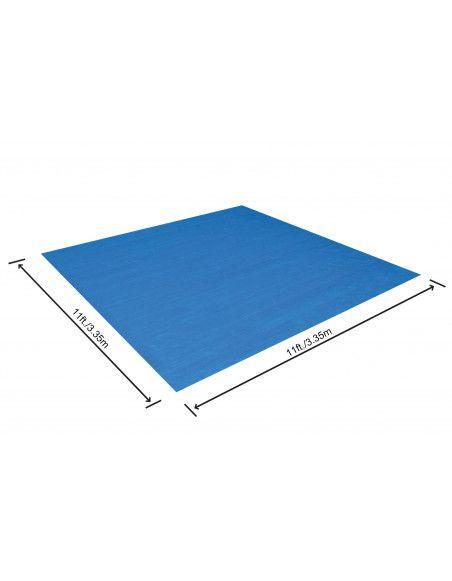 Tapis de sol carré - 305 x 305 cm - Pour piscine hors sol Fast Set, Steel Pro, Steel Pro Max et Hydrium