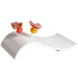 Coupelle pour apéro 20 trous - Porcelaine blanche
