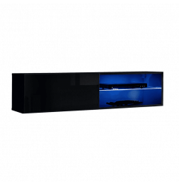 Banc TV mural Switch RTV 4 - L 120 x P 40 x H 30 cm - Noir