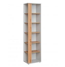 Étagère ouverte Vivero - L 46 x P 35 x H 198 cm - Gris et marron