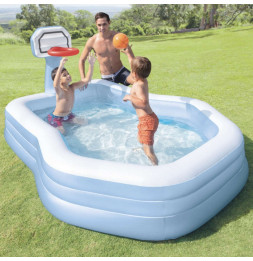 Petite piscine Basket Center - L 257 x l 188 x H 130 cm - Intex