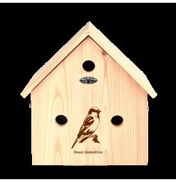 Nichoir maison - L 16,4 x l 33,3 x H 35,8 cm - Pin