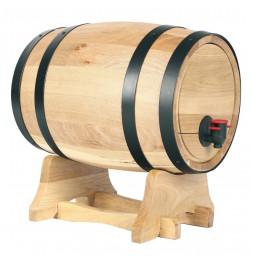 Distributeur de vin en forme de tonneau - 5,5 L - Compatible recharges classiques