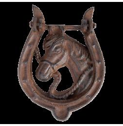 Heurtoir de porte - L 2,9 x l 11,7 x H 16 cm - Tête de cheval