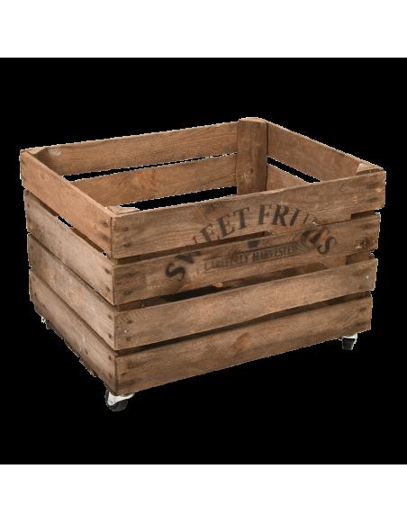 Cageot de pommes - L 40 x l 49,5 x H 35,2 cm - Bois