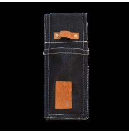 Fourreau d'outils en jean - L 1,8 x l 9,8 x H 24,2 cm - Bleu