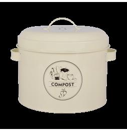 Composteur de cuisine - 6,3 L - Acier au carbone