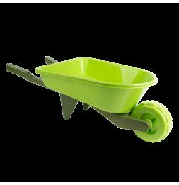 Brouette enfant en plastique - L 28,4 x l 65,8 x H 19,5 cm - Vert