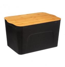 Boîte en plastique avec couvercle - L 29 X P 44 X H 14 cm - Bambou
