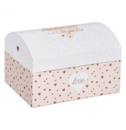 Boîte musicale princesse -  L 15,5 cm x l 11,5 cm x H 10,5 cm - Rose