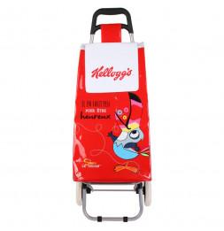 Chariot de shopping Kelloggs - L 35,5 cm x l 32 cm x H 95 cm - Rouge