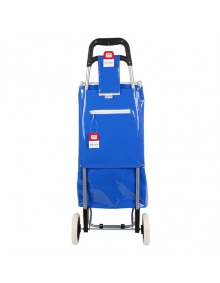 Chariot de shopping Kelloggs - L 35,5 cm x l 32 cm x H 95 cm - Bleu