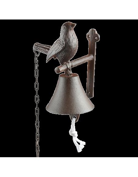 Cloche oiseau - L 14,2 x l 11,9 x H 18,5 cm - Fonte