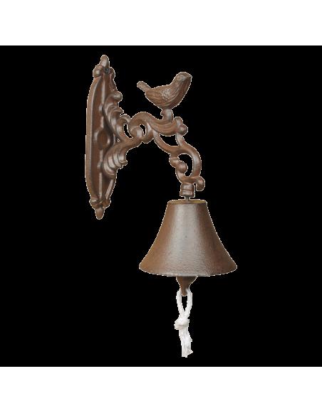 Cloche oiseau - L 19,3 x l 10,6 x H 24 cm - Fonte