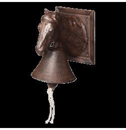 Cloche cheval - L 16,6 x l 12,2 x H 18,5 cm - Fonte