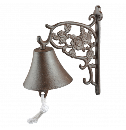 Cloche roses - L 17,2 x l 10,3 x H 19,1 cm - Fonte