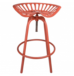 Chaise style tracteur - Fonte - Rouge