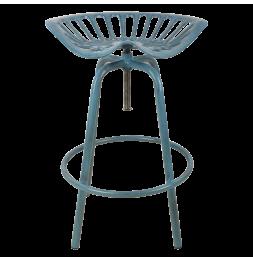 Chaise style tracteur - Fonte - Bleu