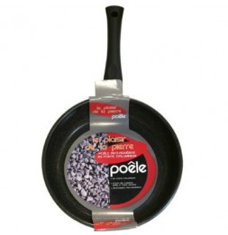 Poêle effet pierre - Tous feux - Revêtement anti-adhésif - Cuisine saine - 24 cm